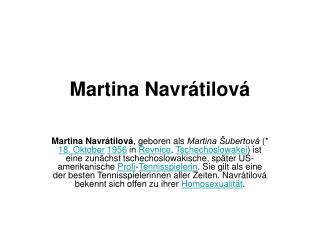 Martina Navrátilová