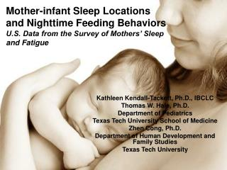 Mother-infant Sleep Locations and Nighttime Feeding Behaviors U.S. Data from the Survey of Mothers  Sleep and Fatigue