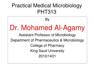 Practical Medical Microbiology PHT313