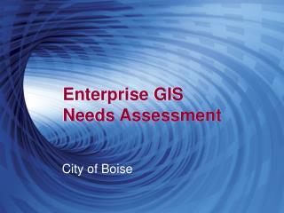 Enterprise GIS  Needs Assessment