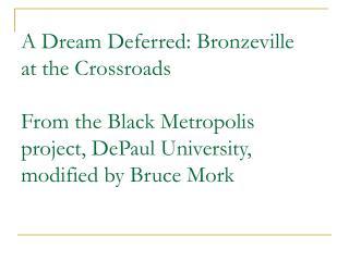 """Langston Hughes' """"Harlem: A Dream Deferred"""""""