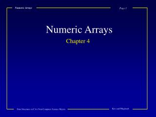 Numeric Arrays