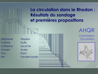 La circulation dans le Rhodon :  Résultats du sondage et premières propositions