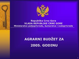 Republika Crna Gora VLADA REPUBLIKE CRNE GORE Ministarstvo poljoprivrede, šumarstva i vodoprivrede