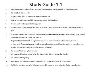 Study Guide 1.1