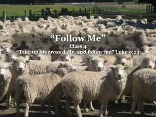 """Follow Me"" Class 4  ""Take up his cross daily, and follow me"" Luke 9:23"