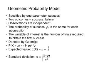 Geometric Probability Model