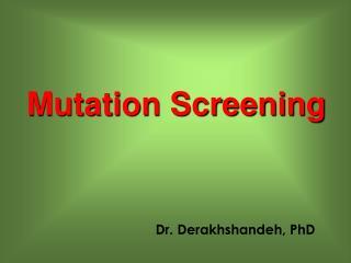 Dr. Derakhshandeh, PhD