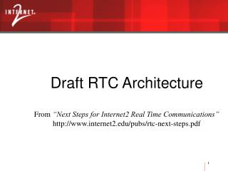 Draft RTC Architecture