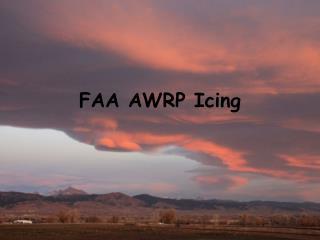 FAA AWRP Icing