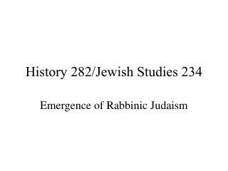 History 282/Jewish Studies 234