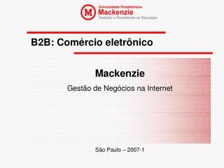 B2B: Com�rcio eletr�nico