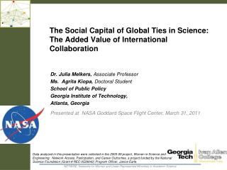 The Social Capital of Global Ties in Science:  The Added Value of International Collaboration