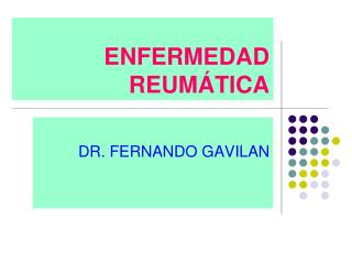 ENFERMEDAD REUMÁTICA