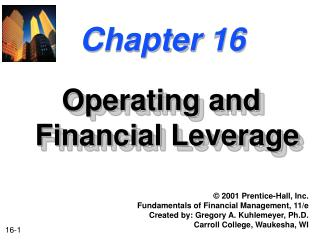 Operating and Financial Leverage