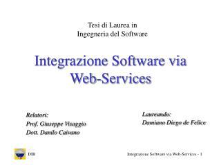 Integrazione Software via Web-Services