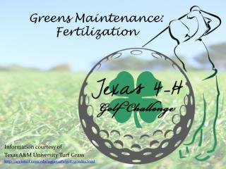 Greens Maintenance:  Fertilization