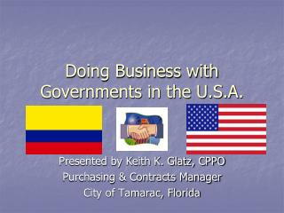 Doing Business with Governments in the U.S.A.