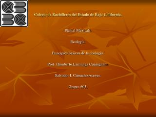 Colegio de Bachilleres del Estado de Baja California.
