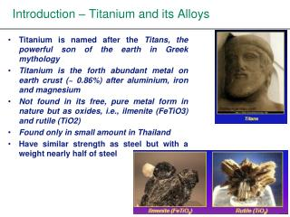 Introduction – Titanium and its Alloys