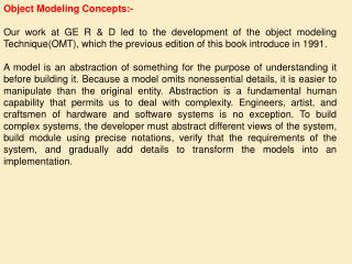 Object Modeling Concepts:-