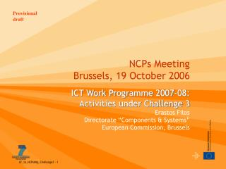 NCPs Meeting Brussels, 19 October 2006