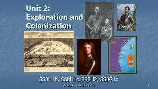 Unit 2:  Exploration and Colonization