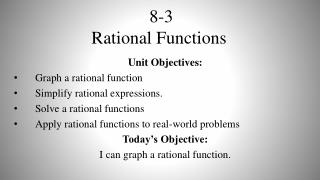 8-3 Rational Functions