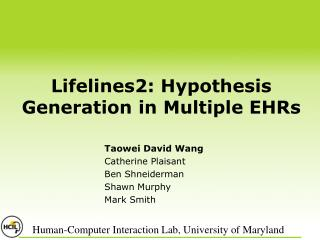 Lifelines2: Hypothesis Generation in Multiple EHRs