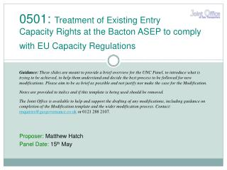 Proposer:  Matthew Hatch Panel Date:  15 th  May