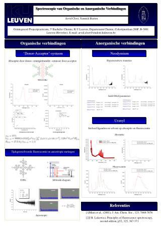 Spectroscopie van Organische en Anorganische Verbindingen
