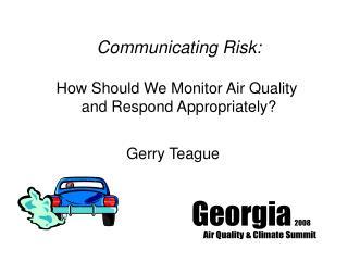 Georgia  2008 Air Quality & Climate Summit
