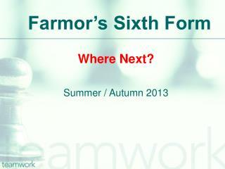 Farmor's Sixth Form