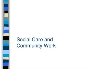 Social Care and Community Work
