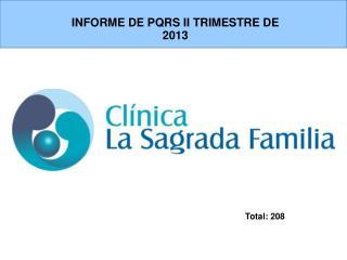 INFORME DE PQRS II TRIMESTRE DE 2013