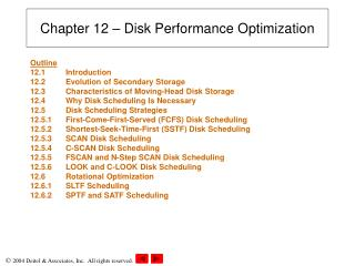 Chapter 12 – Disk Performance Optimization
