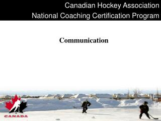 Canadian Hockey Association National Coaching Certification Program