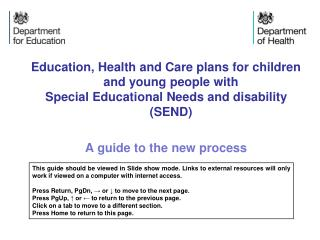 Education, Health and Care plans for children and young people with