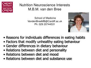 Reasons for individuals differences in eating habits