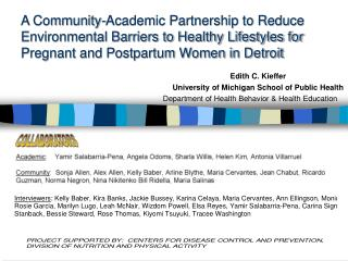 A Community-Academic Partnership to Reduce Environmental Barriers to Healthy Lifestyles for Pregnant and Postpartum Wome