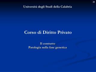 Universit� degli Studi della Calabria