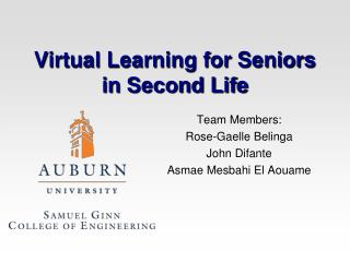 Virtual Learning for Seniors in Second Life