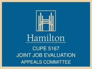 CUPE 5167  JOINT JOB EVALUATION APPEALS COMMITTEE