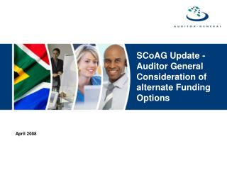 SCoAG Update -Auditor General Consideration of alternate Funding Options
