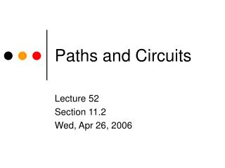 Paths and Circuits