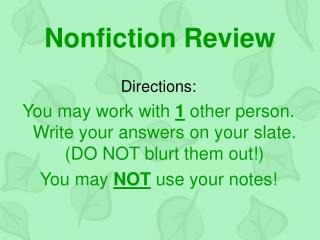 Nonfiction Review