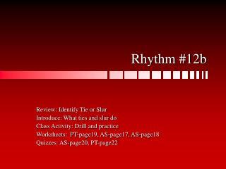 Rhythm #12b