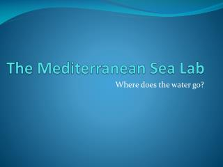 The Mediterranean Sea Lab