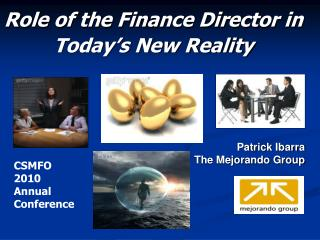 Role of the Finance Director in  Today's New Reality