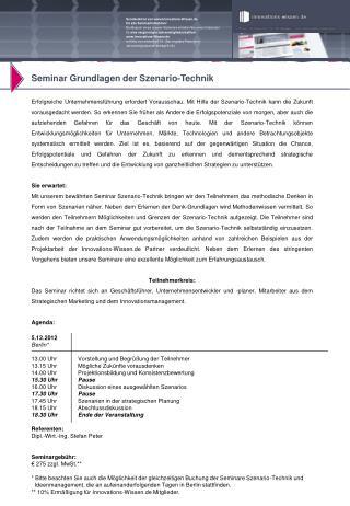 Seminar Grundlagen der Szenario-Technik